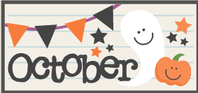 Image result for october calendar heading