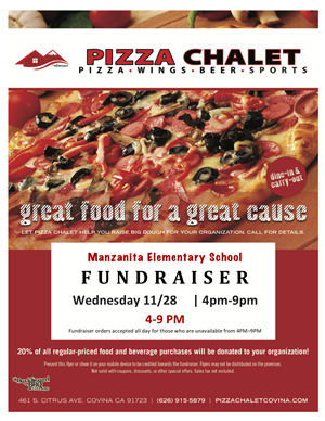 Pizza Chalet Fundraiser