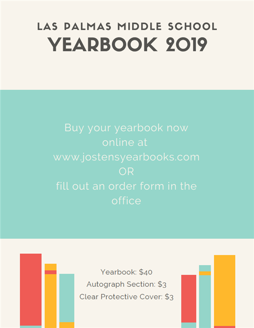 Order your yearbook at jostensyearbooks.com or fill out an order form in the office. Yearbooks are $40