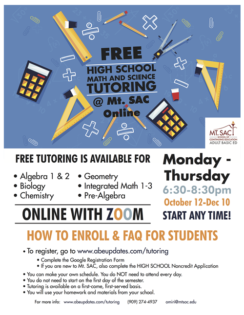 Math and Science Tutoring