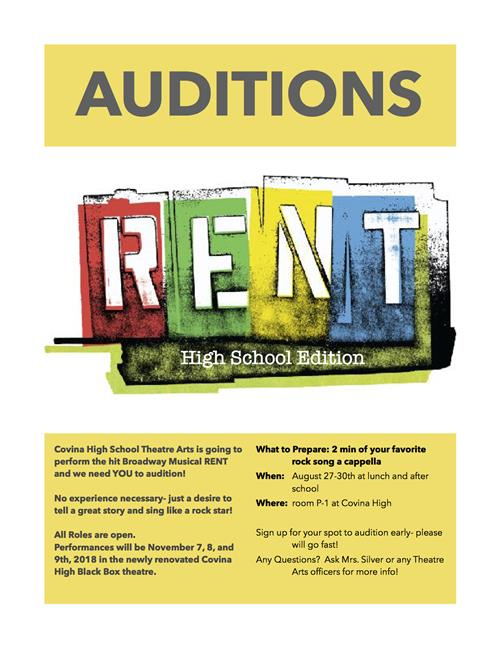 Rent Auditions