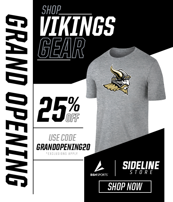 Shop Vikings Gear Grand Opening 25% Off