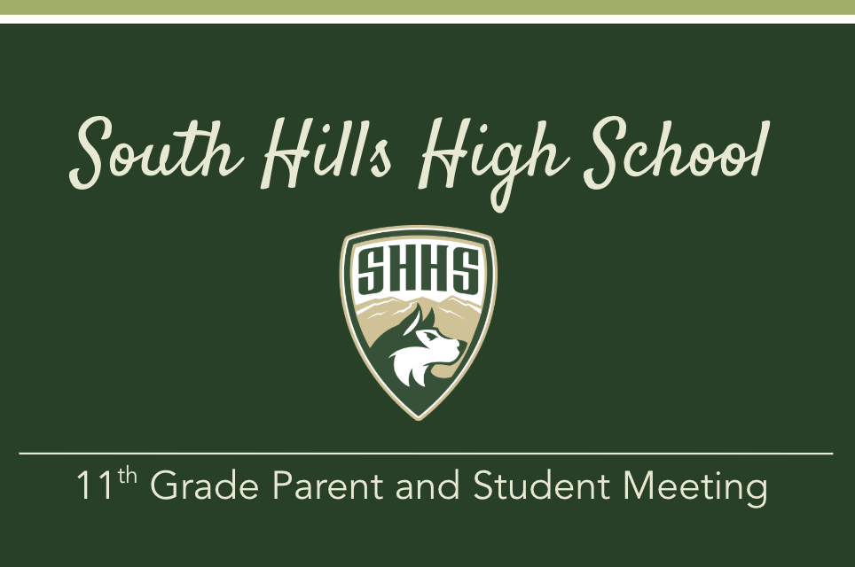 Junior Parents: did you miss the parent meeting? Click here for the presentation from that night.