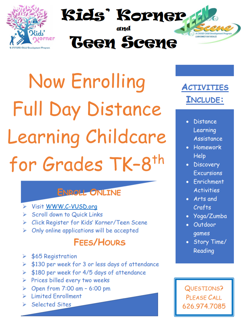 Full Day Distance Learning Childcare
