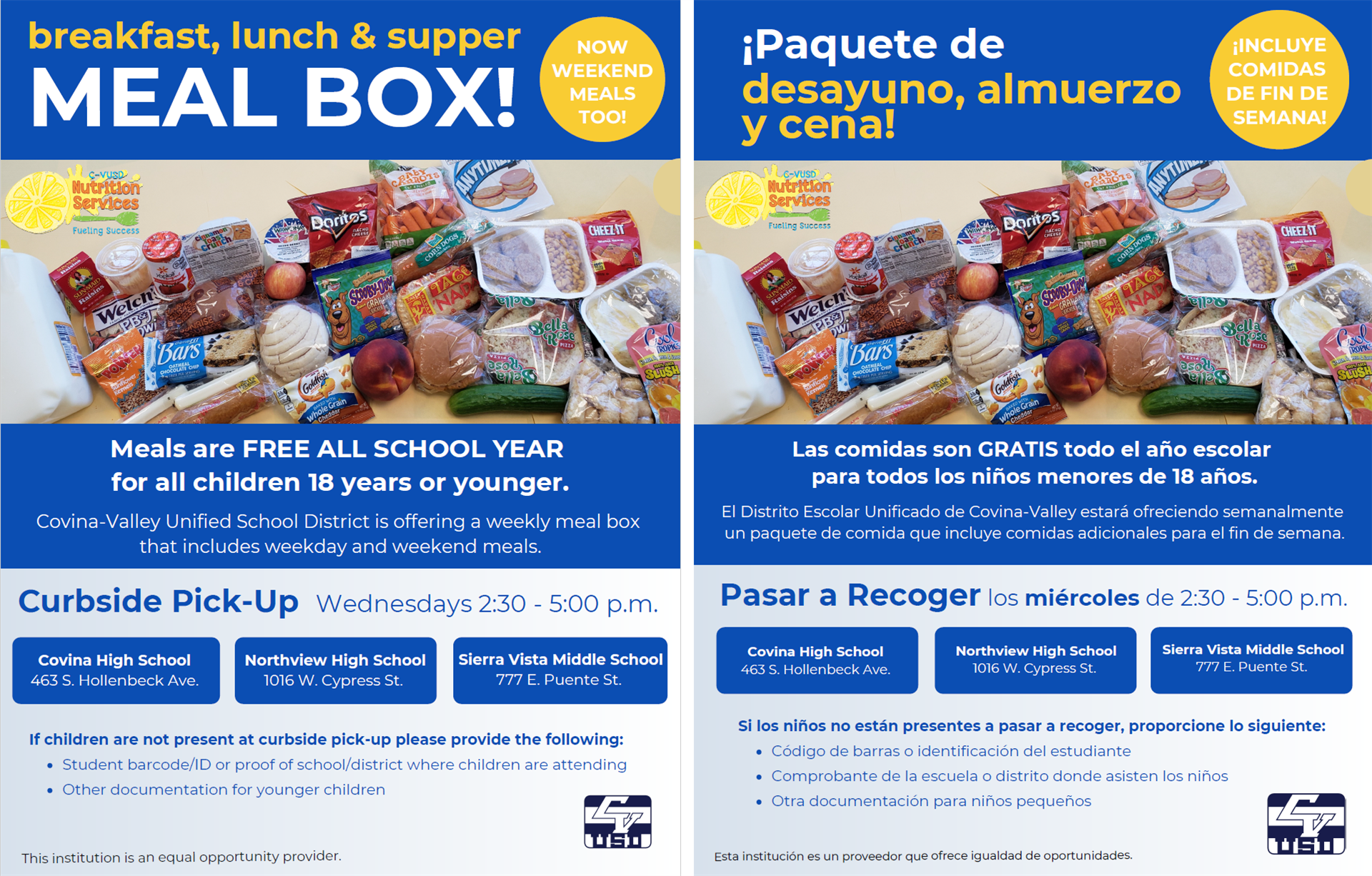 Meal Box Flyers