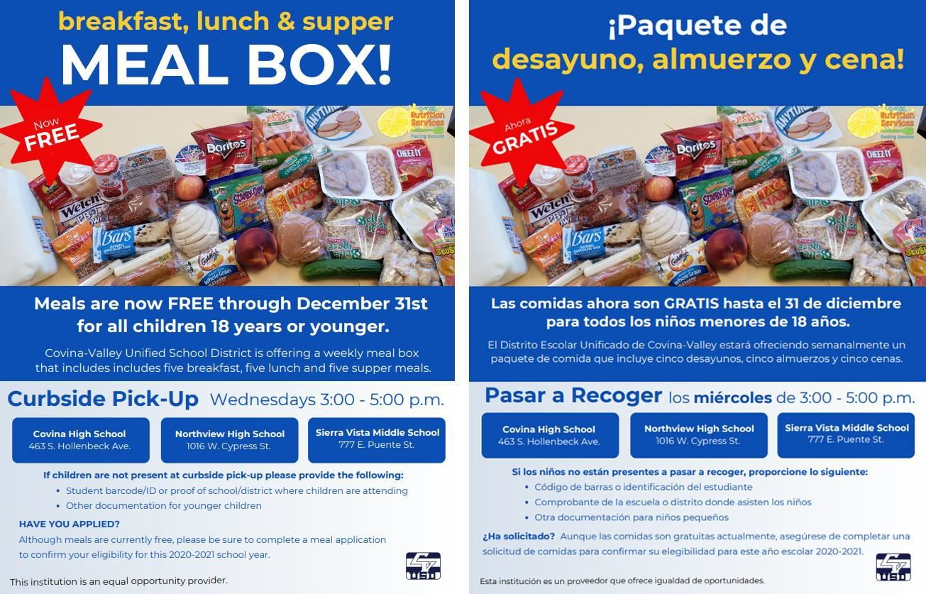 Free Meal Box Flyers
