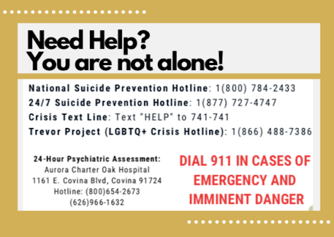 Mental Health Hotlines Infographic