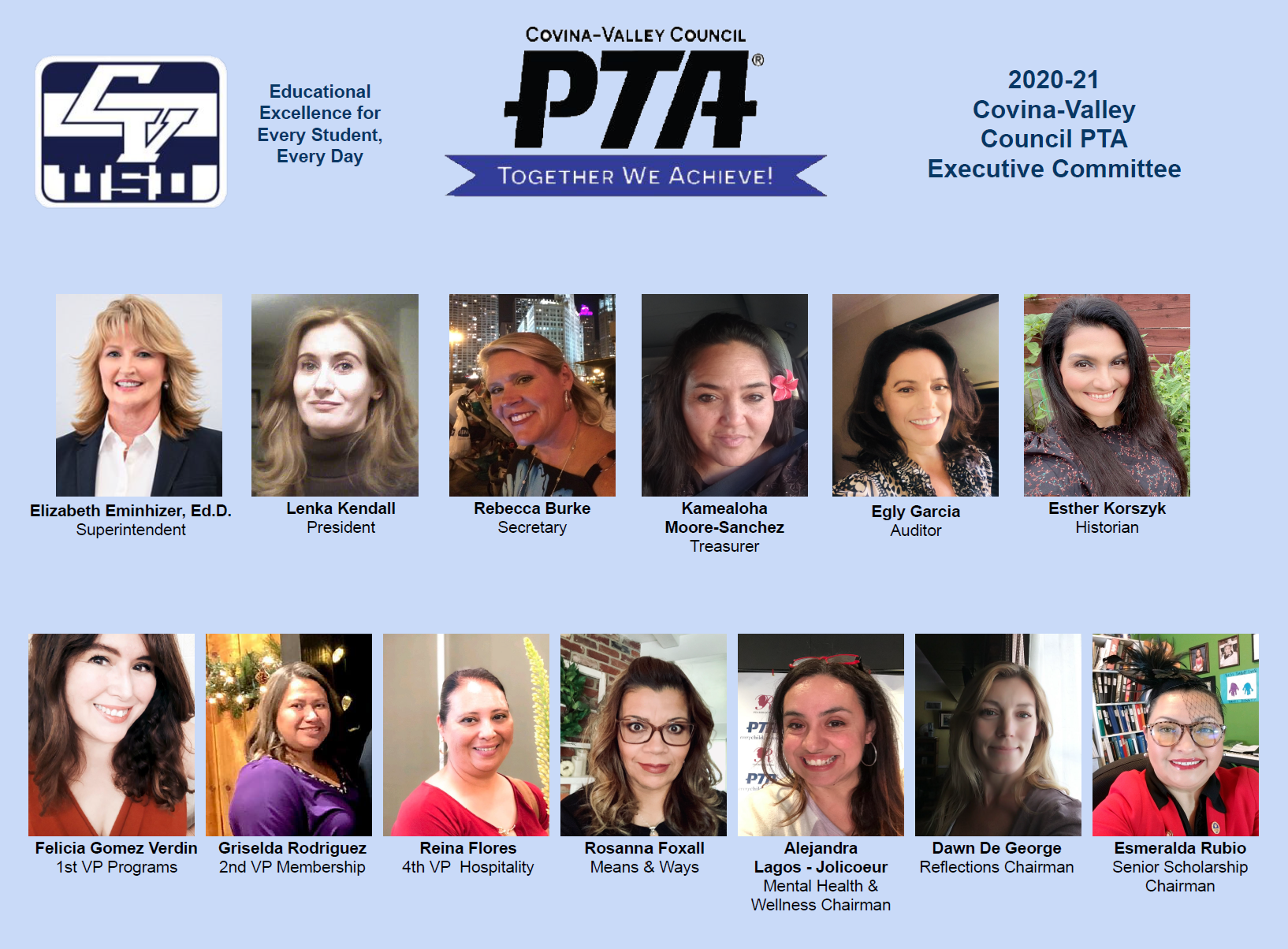 20-21 PTA Executive Committee