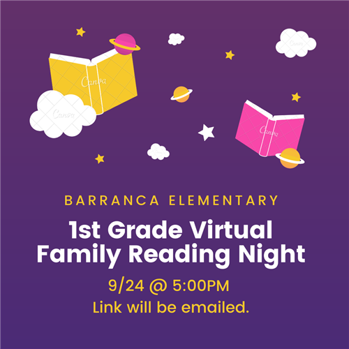 1st Grade Family Reading Night